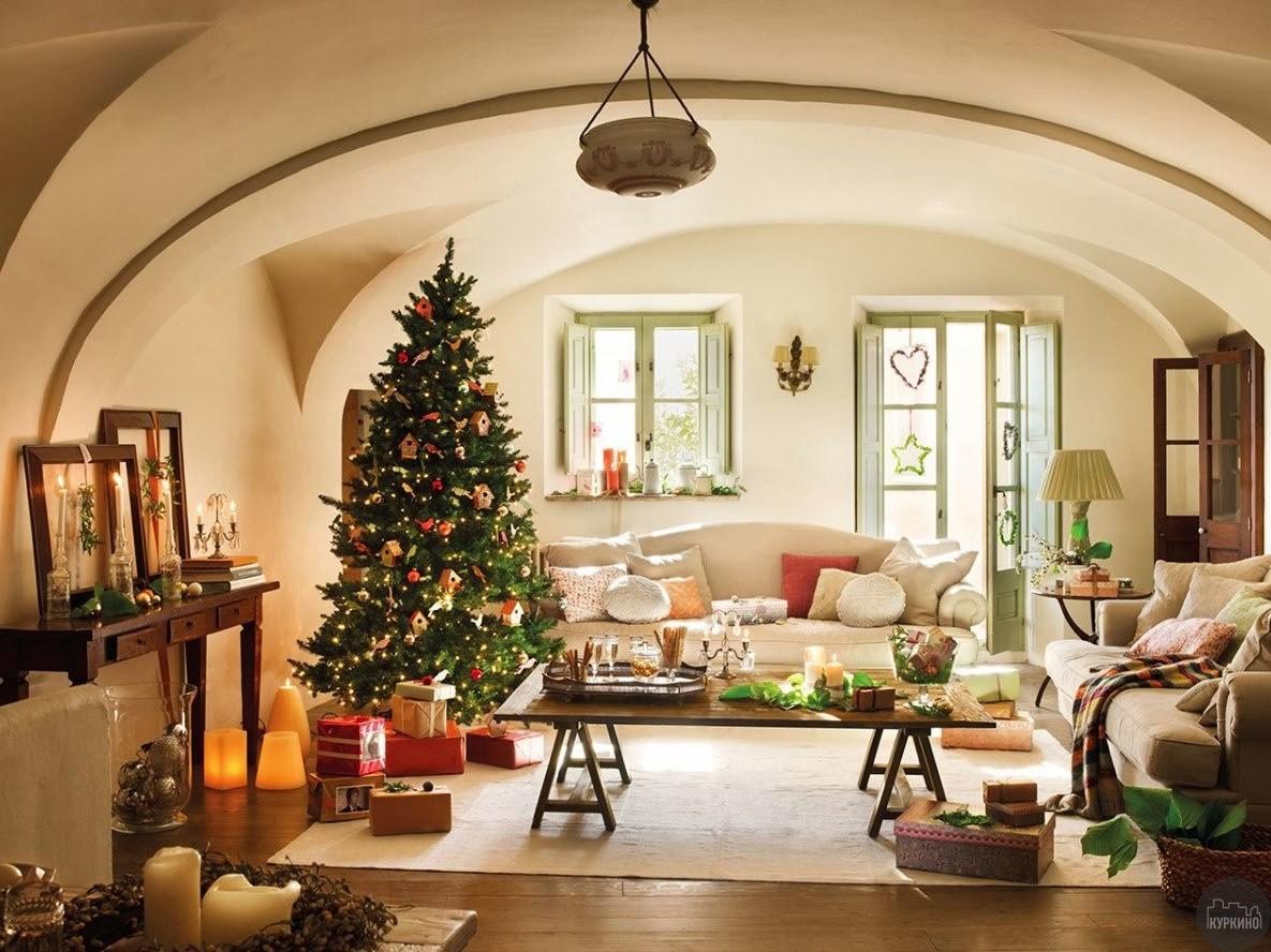 новогоднее оформление квартиры в кукрино