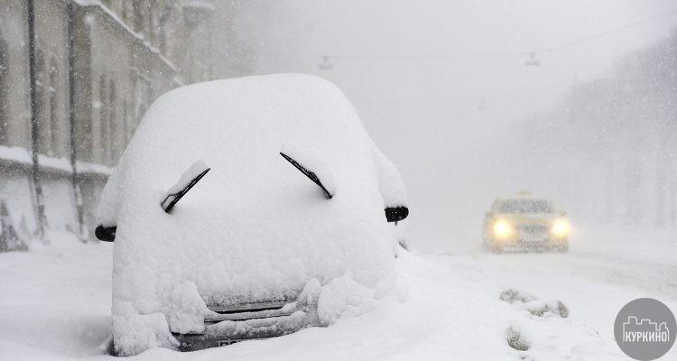 снегопад в куркино