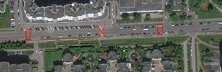 опрос нового варианта расположения пешеходных переходов на Родионовской улице.
