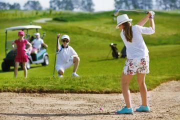 Школа гольфа проводит набор в бесплатную секцию